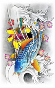 Wonbeauty best and high quality temporary tattoos Upper arm colourful long lasting and realistic temporary tattoos for adults
