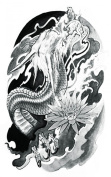 Wonbeauty best and high quality temporary tattoos Upper arm Dragon long lasting and realistic temporary tattoos for adults