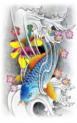 New design and hot selling Upper arm colourful realistic and fake temp tattoo stickers for adults