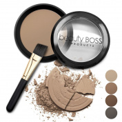 Natural Eyebrow Powder, Waterproof Fill-in Mineral Colouring Eyebrow Kit Get Perfect Brows includes Brush, Light Brown