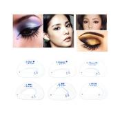Wispun 6pcs Eyeshadow Cateye Smokey Eye Stencil Grooming Shaping Template