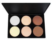 MELADY®Pro 6 Colour Cosmetic Contour Face Power Foundation Makeup Palette