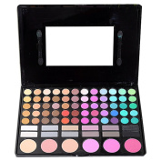 MELADY® Pro 78 Colour Makeup Palette with 60color eyeshadow palette 6color Blush and 12color Lipsticks Cosmetic Kit Sets