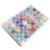 Nail Art Decoration Kit Nail Glitter Powder Nail Foil Nail beads Nail Art Pack of 12pcs
