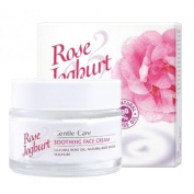 Rose Joghurt Gentle Care Soothing Face Cream with Natural Rose Water, Natural Rose Oil, Yoghurt, Lactobacillus Bulgaricus, Argan Oil and Squalane. 1.7 oz/50 ml