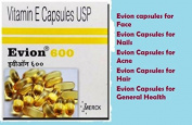 120 best selling Evion Vitamin E 600mg Capsules byMerck glowing Face,Hair,Acne,Nails,General Health Glowing Skin