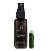 e.l.f. Makeup Mist & Set - Clear 2.02 fl.oz/60mL with a Jarosa Beauty Bee Organic Peppermint Lip Balm