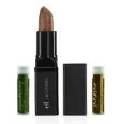 Elf Lip Exfoliator - Clear (2 Tubes) and Jarosa Bee Organic Peppermint and Chocolate Lip Balm Lip Treatment Kit