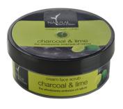 Natural Bath & Body Charcoal & Lime Cream Face Scrub 100ml