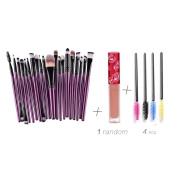 Creazy® 20PCs Make Up Brush Eyebrow Brushes+4 PCs Eyelash Brush+1 PC Lip gloss