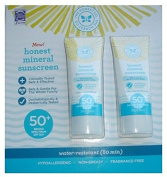 New Honest Mineral Sunscreen Broad Spectrum SPF 50+ Water-Resistant