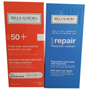 Bella Aurora Sunscreen Anti-dark Spots Fluid Spf 50+ Normal-dry Skin 2x50ml + Sun Repair 2x50ml