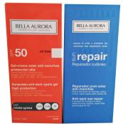 Bella Aurora Sunscreen Anti-dark Spots Gel Spf 50+ Combined-oily Skin 2x50ml + Sun Repair 2x50ml