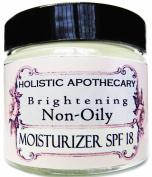 Brightening Non-Oily SPF Face Cream All Natural Face Moisturiser SPF 18 with Non Toxic Sunscreen Non-Nano Zinc Oxide Sunscreen and Organic Carrot Seed for Extra SPF Protection. No Toxic Preservatives.