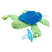 Dr. Brown's Lovey with Blue One-Piece Silicone Pacifier, Turtle