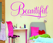 Design with Vinyl RAD 609 2 Beautiful Sign Kids Girl Teen Baby Vinyl Wall Decal, Pink, 36cm x 70cm
