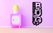 Design with Vinyl RAD 707 2 Cute As A Bug Butterfly Dragonfly Ladybug Insects Baby Girl Bedroom Wall Decal, Black, 36cm x 70cm