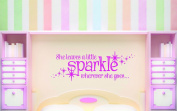 Design with Vinyl RAD 733 2 She Leaves A Little Sparkle Wherever She Goes... Teen Baby Girl Bedroom Quote Wall Decal, Pink, 41cm x 60cm