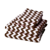 bkb Chevron Round Crib Bedding, Brown