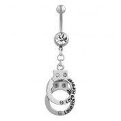 I Love You Forever Belly Button Sexy Cute Ring Dangle Stainless Steel Body Jewellery Piercing