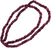 Bead, Gemstone Cherry Quartz Varigated Faceted Tiny Rondell - 18cm