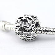 Sweet Sentiments Charm with Clear Cubic Zirconia 925 Sterling Silver Beads Fit European Pandora Bracelet