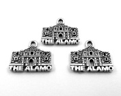 Set of Three (3) Silver Tone Pewter THE ALAMO Charms