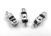 Set of Three (3) Silver Tone Pewter Convertible Sports Car Charms