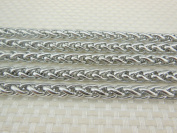 2m Stainless Steel Wheat Braided Chains Findings Fit for Jewellery Making & DIY