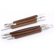 Tinksky Wooden Handle Pottery Clay Sculpture Carving Modelling Tools,Pack of 10