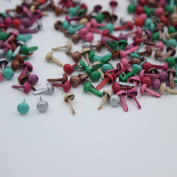 500 Pcs Mixed Colour 4.5mm Mini Brads DIY Paper Craft Stamping Scrapbooking New