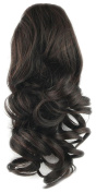 Toptheway 36cm 75g Heat Resistent Wavy Drawstring Ponytail Hair Extensions,Darker Brown