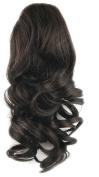 Toptheway 36cm 75g Heat Resistent Wavy Drawstring Ponytail Hair Extensions,Darker Brown