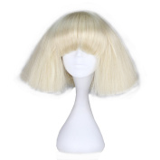 Miss U Hair Short Kinky Straight Taro Wig Women Fashion Party Hair Wig Black and Blonde Colour