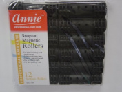 Annie Snap On Magnetic Rollers Black Size Medium