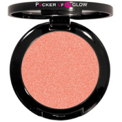 Mineral Powder Blush in Coral Sun a Modern Shimmering Peachy Pink Shade That Deflects Light and Smooths Imperfections on the Skin
