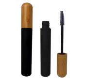 TOPWEL 6ml Reusable Portable Empty Eyelashes Tube Mascara Tube Vials Bottle with Bamboo Cap Eyelashes Wand Holder Container