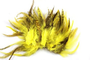 Celine lin 100PCS Saddle Hackle Rooster Feathers Colourful Pheasant Neck feathers 15cm - 20cm ,Yellow