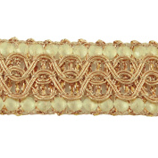 Decorative Ribbon Trim 1.7 Cm Wide Sewing Craft Braided Material By The Yard