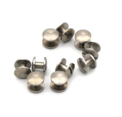 Passion Junetree Chicago Screws Nickel Plate Domed Arc Head Stud Button Screwback
