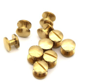 Passion Junetree Chicago Screws Solid Brass Domed Arc Head Stud Button Screwback