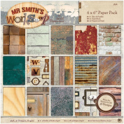 DoCrafts Mr Smith's Workshop 15cm x 15cm Paper Pack 36pc PMA160322