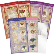 Hunkydory Garden Flowers Floral Medley Acetate Spinner Card - Makes 4