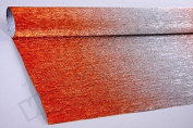 Italian Metalized Crepe Paper roll 180 gramme - 802/4 Metalized Silver - Red gradient