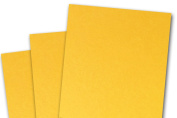Blank Basis Gold 4x6 Flat Cards - 50 Pack