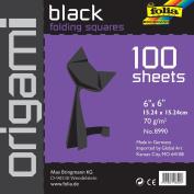 Folia Origami Paper 15cm -by-15cm black 100 Sheets