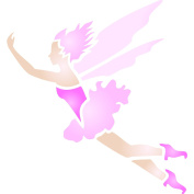 Fairy Stencil - (size 8.3cm w x 8.9cm h) Reusable Wall Stencils for Painting - Best Quality Wall Art Spring Fairy Ideas - Use on Walls, Floors, Fabrics, Glass, Wood, Terracotta, and More...