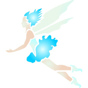 Fairy Stencil - (size 8.9cm w x 10cm h) Reusable Wall Stencils for Painting - Best Quality Wall Art Winter Fairy Ideas - Use on Walls, Floors, Fabrics, Glass, Wood, Terracotta, and More...