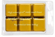 Matte Mustard Yellow MyLuxury1st Melt and Pour Paradise Dolly Soap Colour Bars PACK of 6 by DENISE