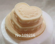 Creativemoldstore 1pcs The 3-Layer Cake Shaped (zx951) Craft Art Silicone Soap Mould Craft Moulds DIY Handmade Soap Mould